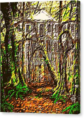 Hoffmans Mansion Original Sold Prints Available Canvas Print by Larry Lamb