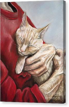 Hold Me Tight Canvas Print by Charlotte Yealey
