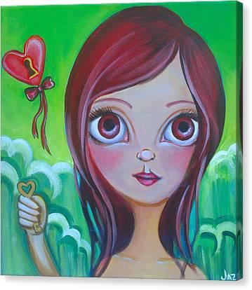 Holding The Key Canvas Print by Jaz Higgins