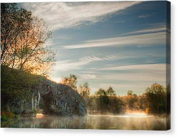 Hole In The Rock Canvas Print by Evgeni Dinev