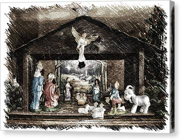 Holiday Christmas Manger Pa 01 Canvas Print by Thomas Woolworth