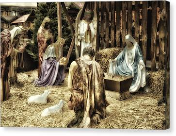Holiday Christmas Manger Pa 02 Canvas Print by Thomas Woolworth