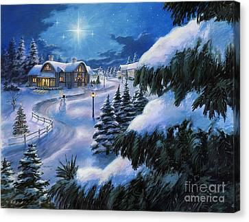 Holiday Lane Canvas Print by Stu Shepherd