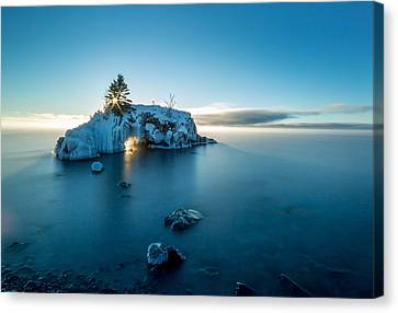 Superior Sunrise // North Shore, Lake Superior  Canvas Print by Nicholas Parker