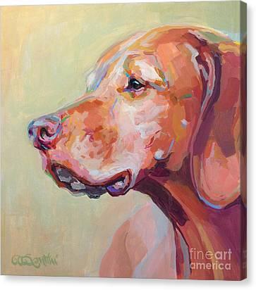 Hollys Heart Dog Bela Canvas Print by Kimberly Santini