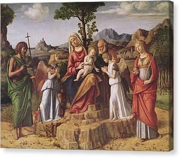 Holy Conversation Canvas Print by Giovanni Battista Cima da Conegliano