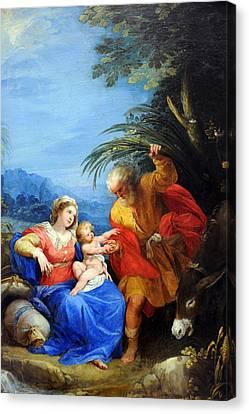 Holy Family Canvas Print by Munir Alawi