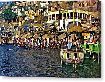 Holy Ganges Canvas Print by Steve Harrington