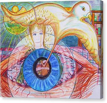 Holy Ghost Shining Eyes Canvas Print by Richard  Hubal