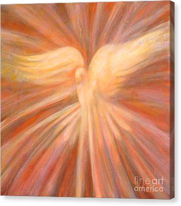 Holy Spirit Appearing As A Dove Canvas Print by Kip Decker