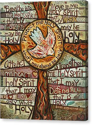 Holy Spirit Prayer By St. Augustine Canvas Print by Jen Norton