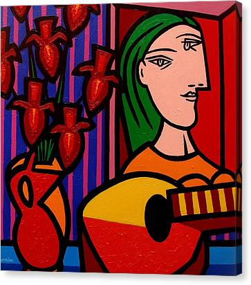 Homage To Picasso Canvas Print by John  Nolan