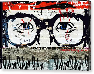 Homage To Pink Floyd Graffiti Canvas Print by Anahi DeCanio