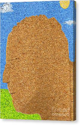 Homage To Seurat In Carpet Canvas Print by Andy  Mercer