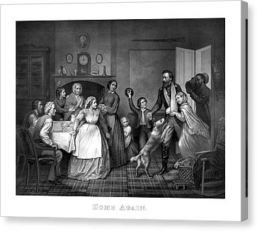 Home Again - Civil War Canvas Print by War Is Hell Store