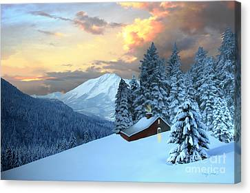 Home And Hearth Canvas Print by Corey Ford