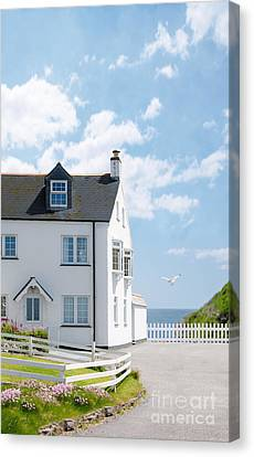 Home By The Sea Canvas Print by Amanda And Christopher Elwell
