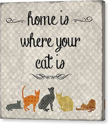 Home Is Where Your Cat Is-jp3040 Canvas Print by Jean Plout