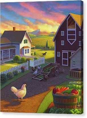 Home On The Farm Canvas Print by Robin Moline