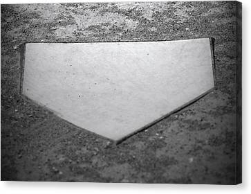 Home Plate Canvas Print by Shawn Wood