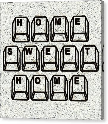 Home Sweet Home Computer Keys Canvas Print by Edward Fielding