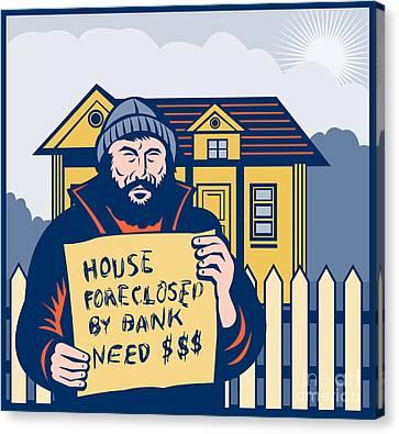 Homeless Man Canvas Print by Aloysius Patrimonio