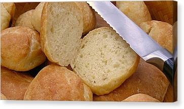 Homemade Chewy Sandwich Rolls Canvas Print by James Temple