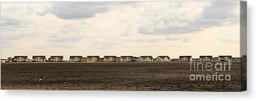 Homes On The Prairie Canvas Print by Steve Augustin