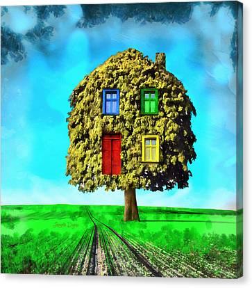 Hometree - Da Canvas Print by Leonardo Digenio