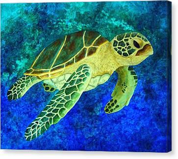 Honolulu Honu Canvas Print by Patti Bean