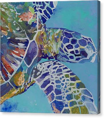Honu Canvas Print by Marionette Taboniar