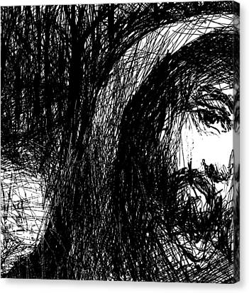Hooded Stranger Canvas Print by Rachel Christine Nowicki