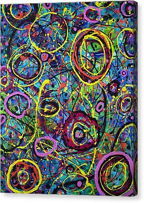 Hoopla Canvas Print by Lynda Lehmann