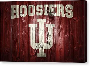 Hoosiers Barn Door Canvas Print by Dan Sproul