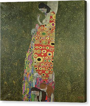 Hope II Canvas Print by Gustav Klimt