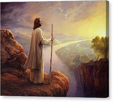 Hope On The Horizon Canvas Print by Greg Olsen