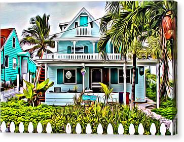 Hopetown Homes Canvas Print by Anthony C Chen