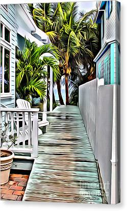 Hopetown Walkway Canvas Print by Carey Chen