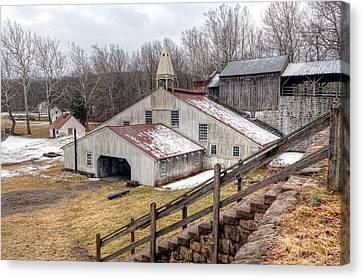 Hopewell Furnace In February-v2 Canvas Print by Don Schroder