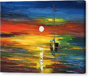 Horizon Sail Canvas Print by Ash Hussein