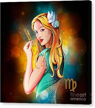 Horoscope Signs-virgo Canvas Print by Bedros Awak