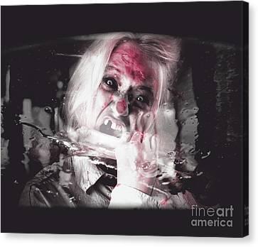 Horror Fast Food. Drive Thru Zombie Apocalypse Canvas Print by Jorgo Photography - Wall Art Gallery