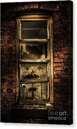 Horror House Window Canvas Print by Jorgo Photography - Wall Art Gallery