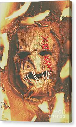 Horror Scarecrow Portrait Canvas Print by Jorgo Photography - Wall Art Gallery
