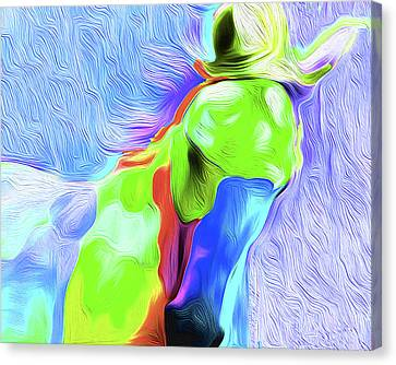 Horse 003 Nixo Canvas Print by Nixo Nixolas