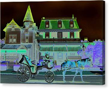 Horse And Buggy Canvas Print by Paul Barlo