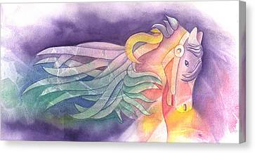 Horse Of A Different Color Canvas Print by Marsha Elliott