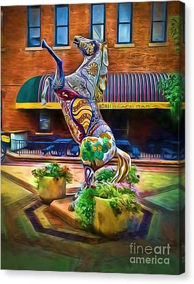 Horse Of Another Color Canvas Print by Jon Burch Photography