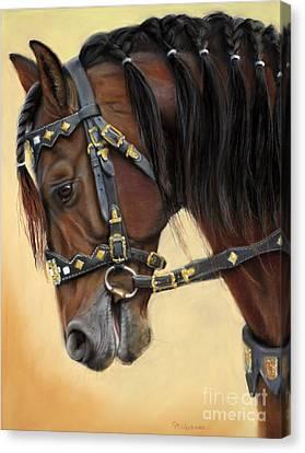 Horse Portrait  Canvas Print by Svetlana Ledneva-Schukina