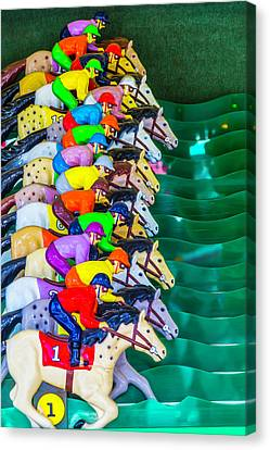 Horse Race Game Canvas Print by Garry Gay